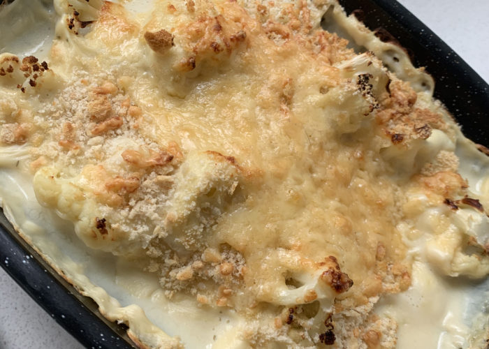Garlic Cauliflower Bake